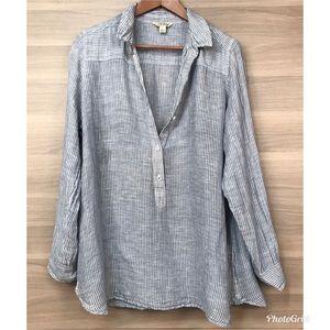Lucky Brand Linen Pullover Blouse